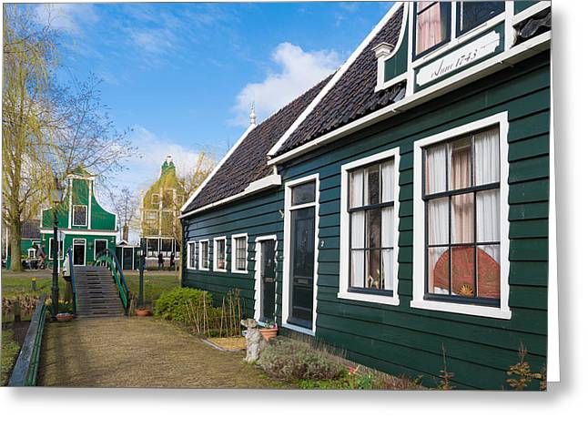 Zaandijk Greeting Cards - Authentic Dutch Houses Greeting Card by Hans Engbers