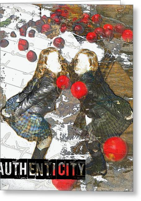 Authenticity Greeting Card by Melissa D Johnston