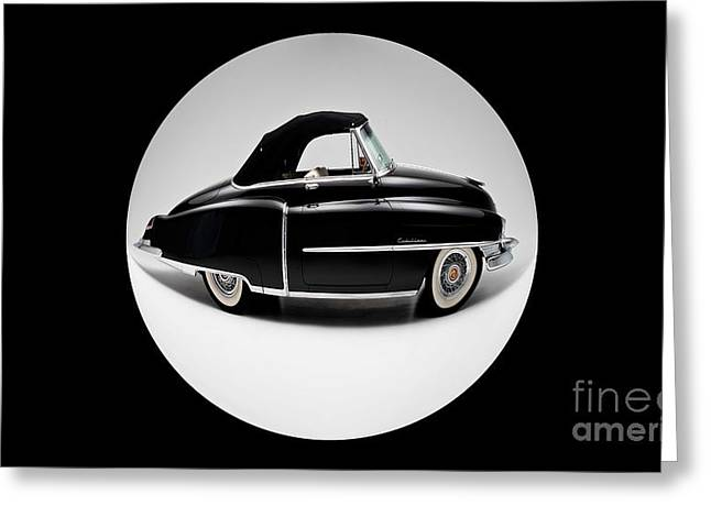 Black Car Greeting Cards - Auto Fun 01 - Cadillac Greeting Card by Variance Collections