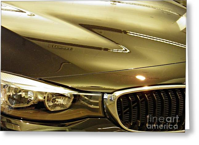 Car Part Greeting Cards - Auto Headlight 173 Greeting Card by Sarah Loft