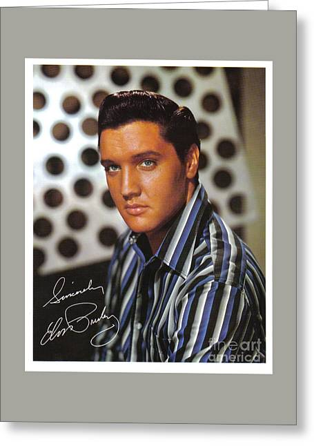 Autographed Elvis Greeting Card by Pd