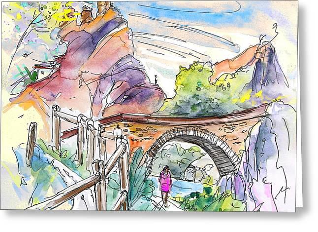 Rioja Greeting Cards - Autol in La Rioja Spain 02 Greeting Card by Miki De Goodaboom