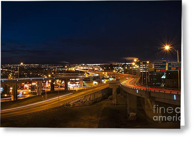 Centreville Greeting Cards - Autoroute 440 Greeting Card by Audrey Wilkie