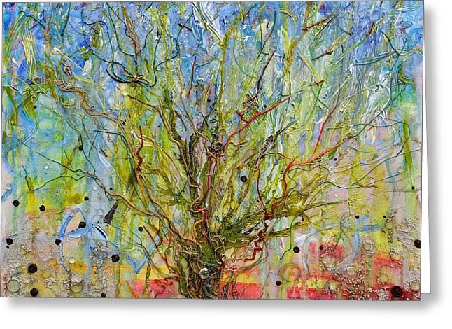 Autotroph Tree Of Life 1 Greeting Card by Regina Valluzzi