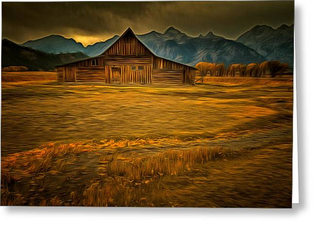 Autum At The Moulton Barn Greeting Card by Mark Kiver