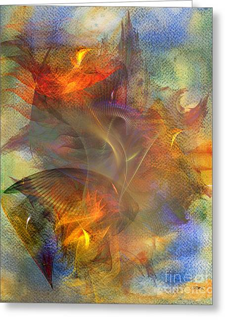 Autumn Ablaze Greeting Card by John Robert Beck