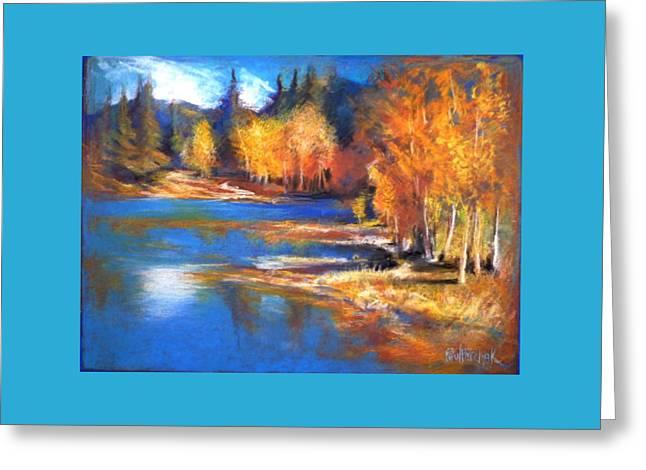 Tasteful Pastels Greeting Cards - Autumn Aspens Greeting Card by Paul Birchak