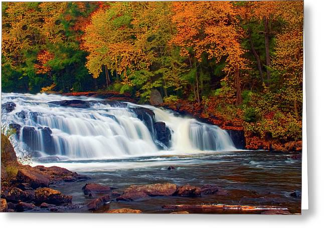 Buttermilk Falls Greeting Cards - Autumn at Buttermilk Falls Greeting Card by Tony Beaver