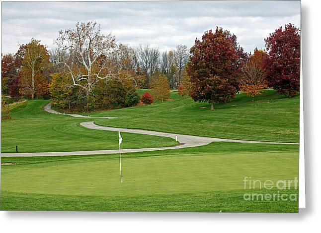 Autumn At River Glen Greeting Card by Steve  Gass
