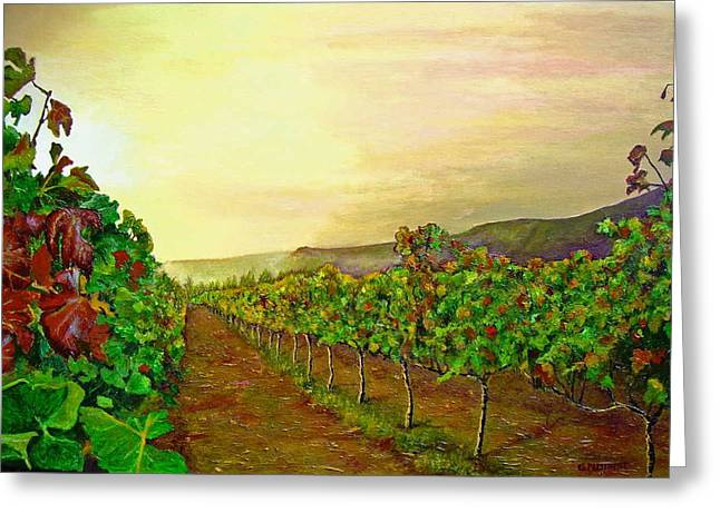Impressionistic Realism Greeting Cards - Autumn at Steenberg Greeting Card by Michael Durst