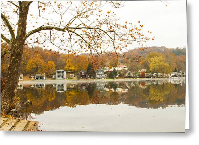 Autumn At The Housatonic Greeting Card by Karol Livote