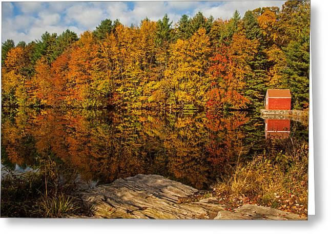 Autumn At The Lake Greeting Card by Karol Livote