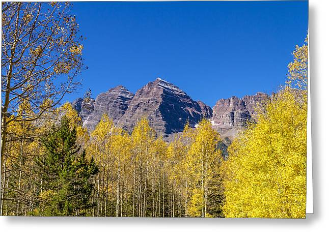 Autumn At The Maroon Bells Greeting Card by Teri Virbickis