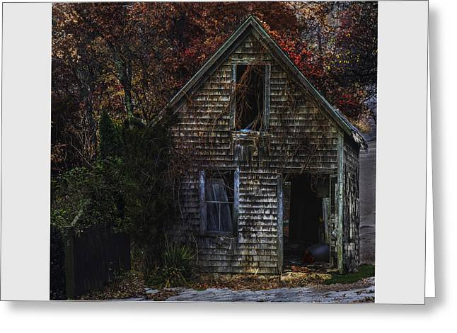 Old Maine Barns Greeting Cards - Autumn Barn Greeting Card by Janet Ballard