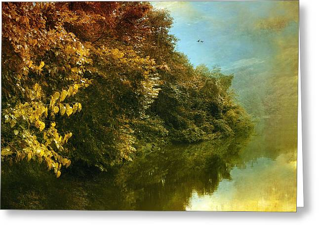 Seasonal Digital Greeting Cards - Autumn Canvas Greeting Card by Jessica Jenney