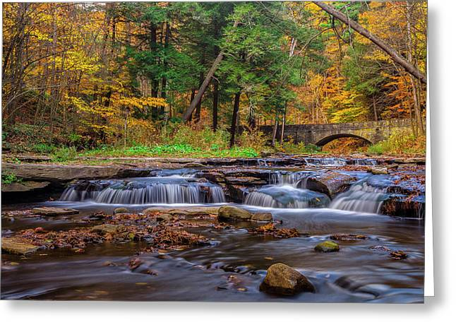 Nature Scene Greeting Cards - Autumn Cascades Greeting Card by Mark Papke
