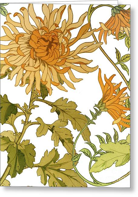 Autumn Chrysanthemums I Greeting Card by Mindy Sommers