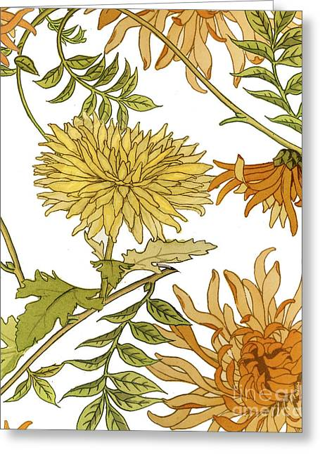 Chrysanthemum Greeting Cards - Autumn Chrysanthemums II Greeting Card by Mindy Sommers