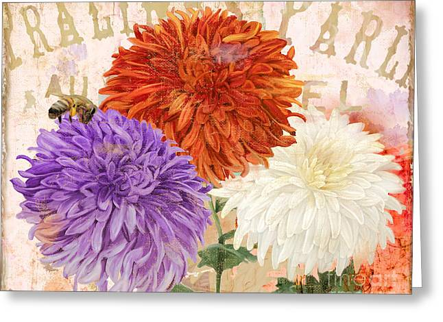 Autumn Flowers Greeting Cards - Autumn Chrysanthemums Greeting Card by Mindy Sommers