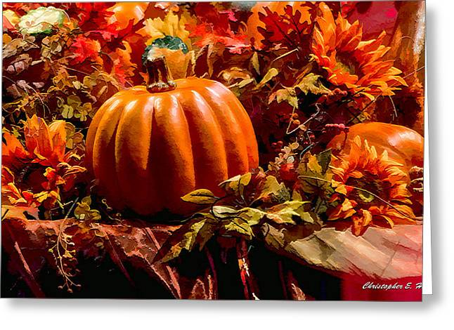 Autumn Colors Greeting Card by Christopher Holmes