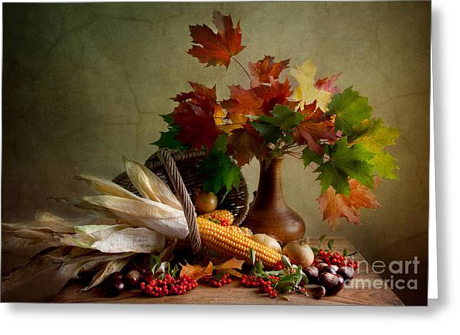 Autumn Colors Greeting Card by Nailia Schwarz