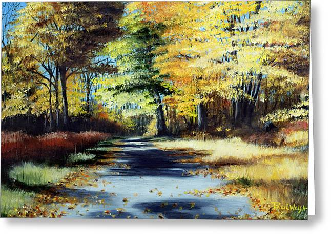 AUTUMN COLORS Greeting Card by PAUL WALSH