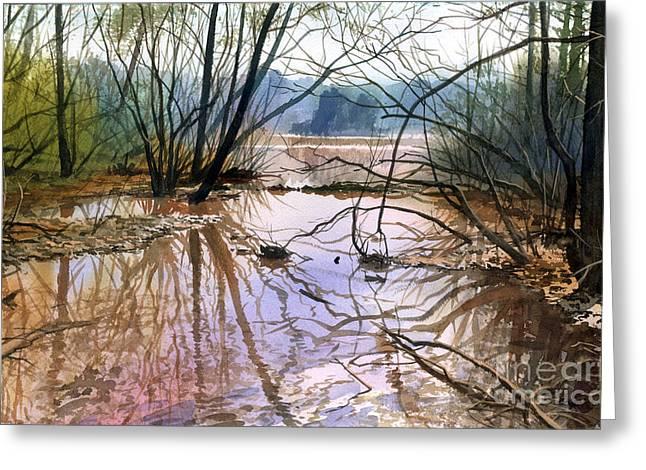 Autumn Creek Greeting Card by Sergey Zhiboedov