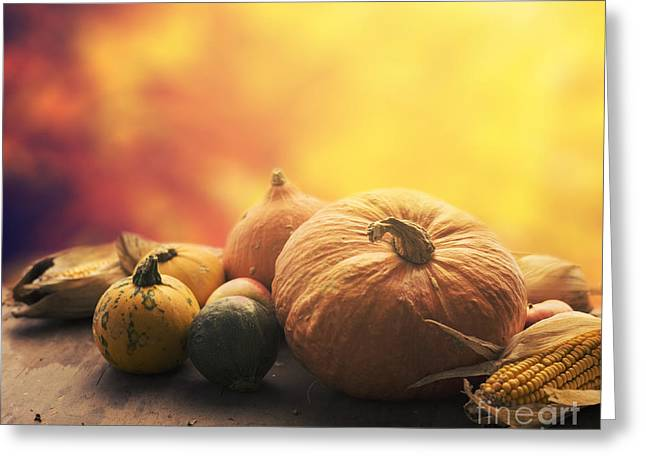 Pyrography Greeting Cards - Autumn crops Greeting Card by Jelena Jovanovic