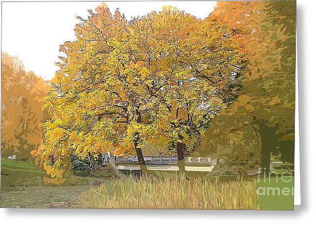 Autumn Days Of Your Life-season Of Harvest Greeting Card by Beverly Guilliams