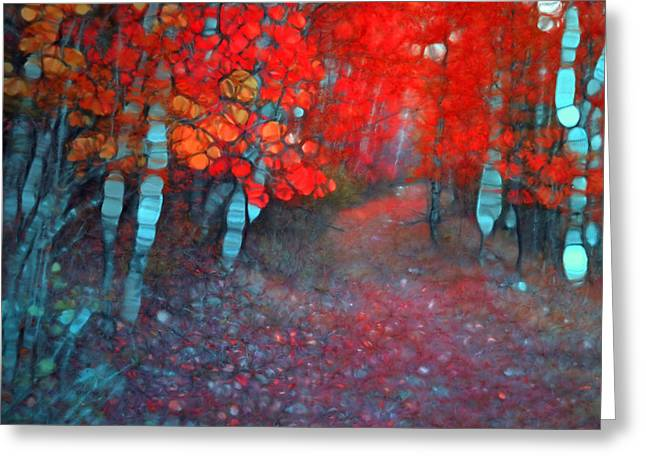 Distortion Greeting Cards - Autumn Distortions Greeting Card by Tara Turner