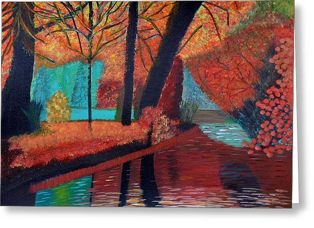 Autumn Dreams Greeting Card by Magdalena Frohnsdorff