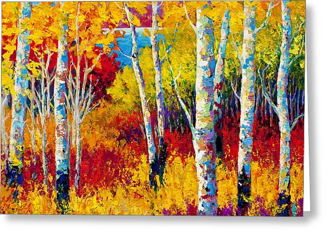 Autumn Dreams Greeting Card by Marion Rose