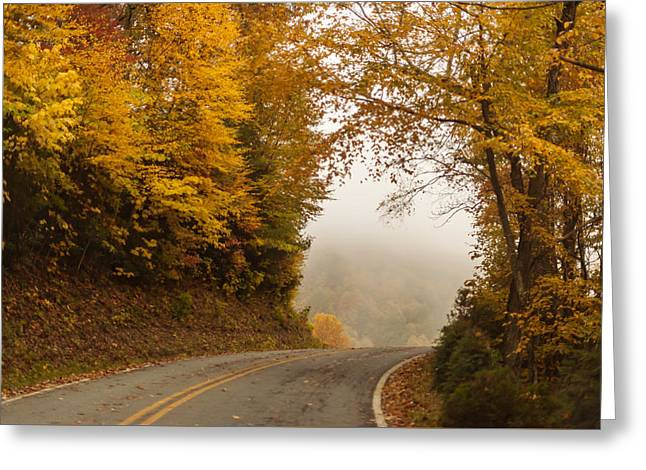 Scenic Drive Greeting Cards - Autumn Drive North Carolina Greeting Card by Terry DeLuco