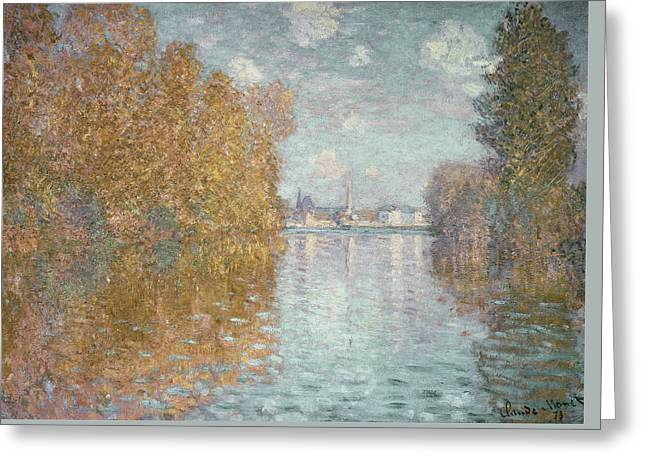 Autumn Effect At Argenteuil Greeting Card by Claude Monet