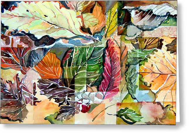Autumn Falls Greeting Card by Mindy Newman