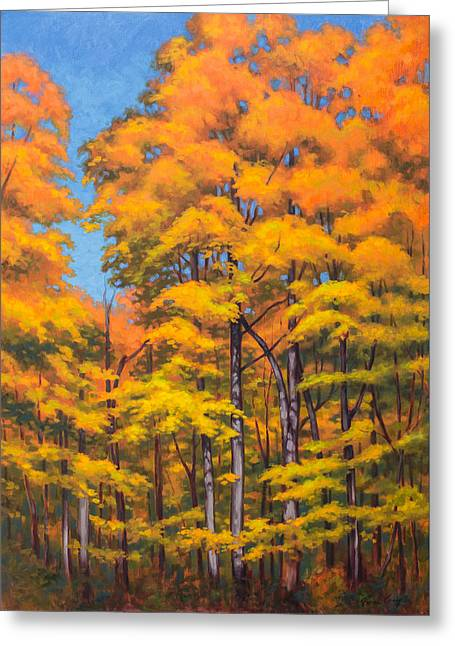 Autumn Forest 1 Greeting Card by Fiona Craig