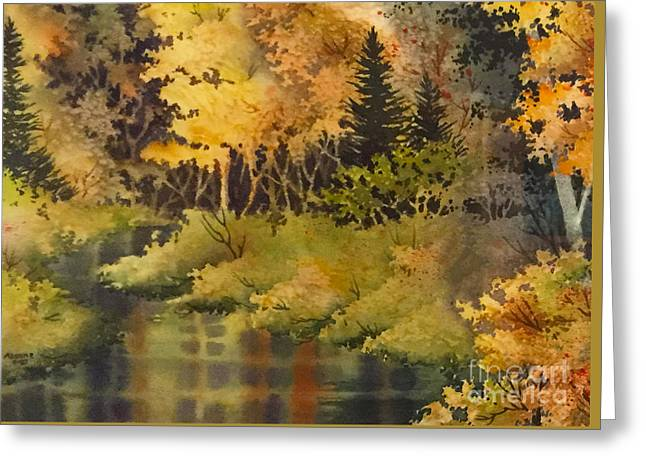 Panoramic Ocean Greeting Cards - Autumn Forest II Greeting Card by Teresa Ascone