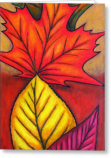 Lisa Lorenz Paintings Greeting Cards - Autumn Glow Greeting Card by Lisa  Lorenz