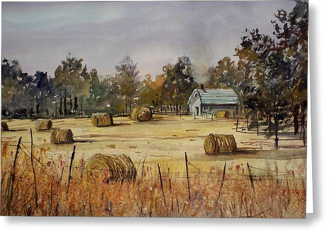 Bales Paintings Greeting Cards - Autumn Gold Greeting Card by Ryan Radke