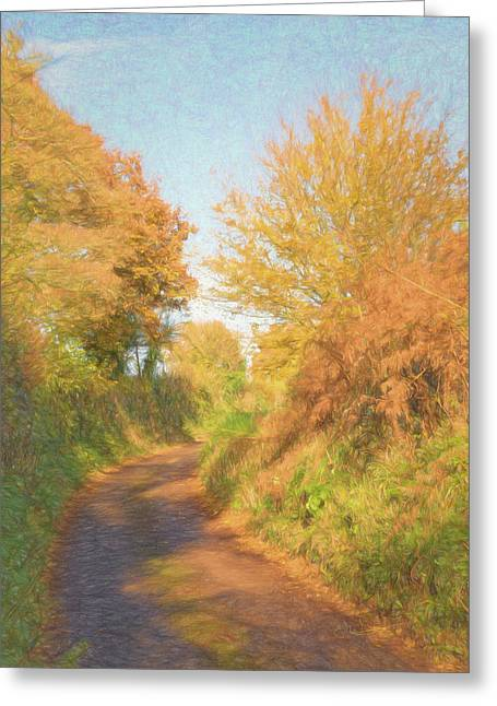 Autumn Golden Glow Greeting Card by John Groves