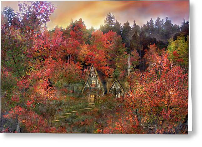 Autumn Scenes Greeting Cards - Autumn Hideaway Greeting Card by Carol Cavalaris