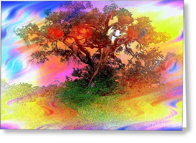 Improvisation Greeting Cards - Autumn in Abstract Water Color Greeting Card by Ed Churchill