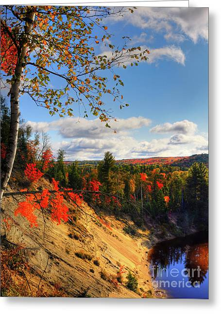 Autumn In Arrowhead Provincial Park Greeting Card by Oleksiy Maksymenko