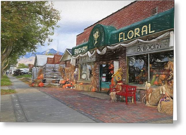 Autumn In Brigham City  Greeting Card by Donna Kennedy