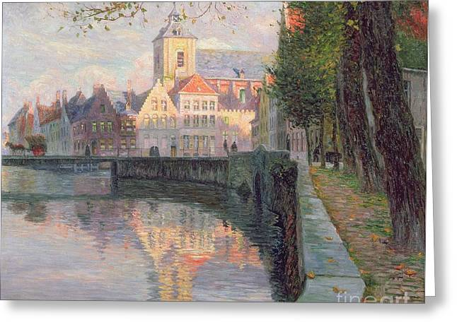 In-city Greeting Cards - Autumn in Bruges Greeting Card by Omer Coppens