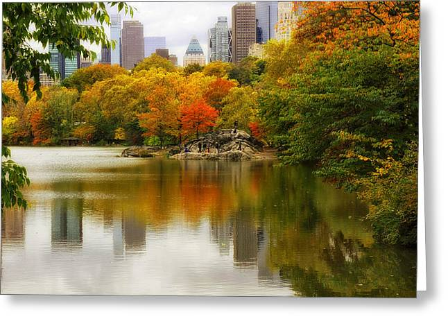 Jessica Photographs Greeting Cards - Autumn in Central Park Greeting Card by Jessica Jenney