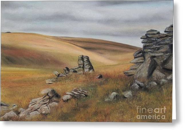 Stones Pastels Greeting Cards - Autumn In Dartmoor Greeting Card by Alexandra Lavizzari