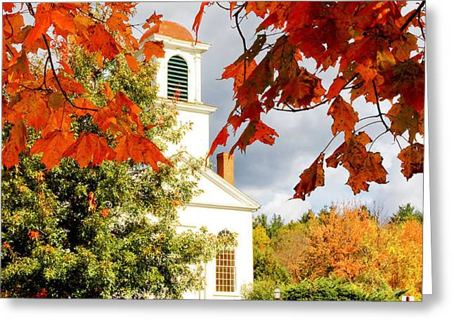 Autumn in Gilmanton Greeting Card by Robert Clifford