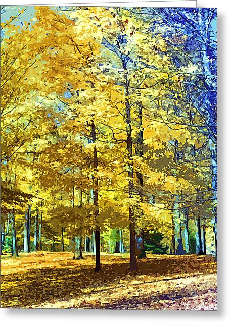 Indiana Autumn Greeting Cards - Autumn in Indiana Two Greeting Card by Paul Price