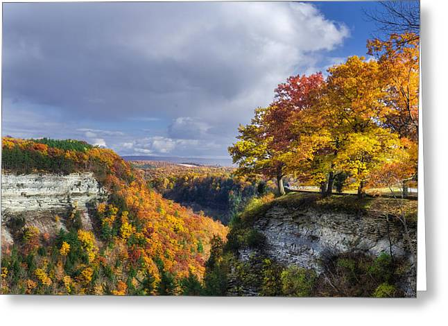 Abyss Greeting Cards - Autumn in Letchworth Greeting Card by Mark Papke